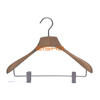 Antique Luxury Premium Beech Hanger With Hanging Clip
