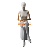 Customize Clothing Display Full Body Sitting Female Fabric Wrapped Mannequin for Sale