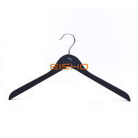 Black Non-Slip Solid Wood Clothing Hanger For Men And Women Clothing
