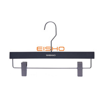 Black Thickened Non-Slip Pants Hanger Can Be Customized For Clothing Stores