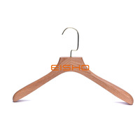 Beautiful Clothes Hangers Natural Wooden Hanger With Gold Hook